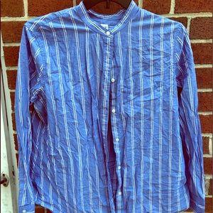 Pinstripe blue shirt